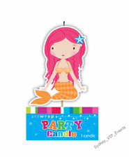 MERMAID CANDLE GIRLS BIRTHDAY PARTY UNDER THE SEA OCEAN CAKE TOPPER DECORATION