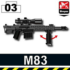 M83 (W141) .50 Caliber Sniper Rifle compatible with toy brick minifigures