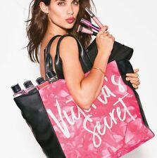 Victoria's Secret Limited Edition Pink Black Tie Dye Tote Shopping Bag 2017 NWT
