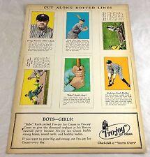 BABE RUTH NEW YORK YANKEES BASEBALL PLAYER ADVERTISING FRO JOY ICE CREAM CARDS