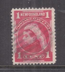 NEWFOUNDLAND, 1897 QV 1c. Carmine, used.