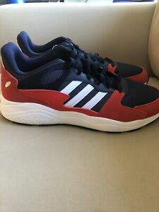 Adidas Chaos Men's Size 14 Running Shoes Navy Blue / Red EF1051 NEW