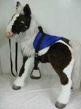 S'MORES BUTTERSCOTCH HORSE SADDLE BRIDLE  SET  BLUE