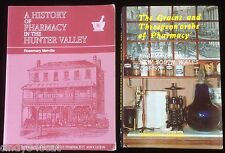 History of Pharmacy NSW + Hunter Valley 2 Books from 1788 Shopkeeping Ethics