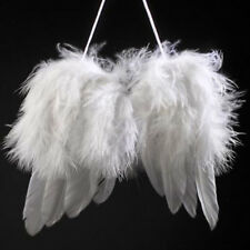 BA_ Mini Angel Feather Wing Wedding Decor Christmas Tree Hanging Ornament Witty