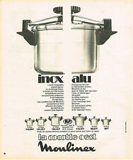 PUBLICITE ADVERTISING   1973   MOULINEX   la cocotte- minute