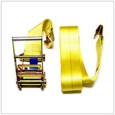 """4"""" X 30 FT Flat Hook Ratchet Tie Down Assembly TRAILER TOW STRAP"""
