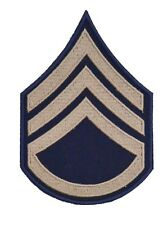 WW2 US AMERICAN STAFF SERGEANT KHAKI RANK INSIGNIA