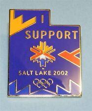 SALT LAKE CITY 2002 Olympics Winter Games Logo PIN - I Support Utah