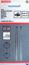 2 Bosch 82mm WOOD RAZOR REVERSIBLE GHO & PHO Planer Blades Tungsten Carbide