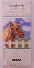 WonderArt Pony Horse Latch Hook Kit 12x12 R12636