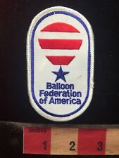 Hot Air BALLON FEDERATION OF AMERICA Advertising Patch 81V8