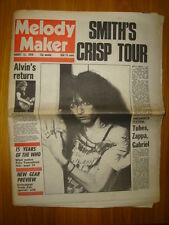 MELODY MAKER 1978 AUG 12 PATTI SMITH WHO TUBES ZAPPA