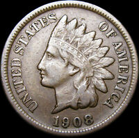 1908-S Indian Cent Penny  ---- NICE  ---- #B002