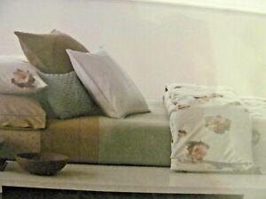 5pc Calvin Klein Tea Flower Queen Duvet Cover Aqua Std & Bark Euro Shams  NIP