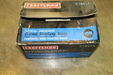 "Craftsman 18414, 1-1/4"" Galvanized Coiled Roofing Nails, Approximately 1,680"