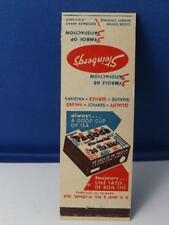 STEINBERG'S GROCERY STORE TEA BAGS QUEBEC MATCHBOOK VINTAGE ADVERTISING