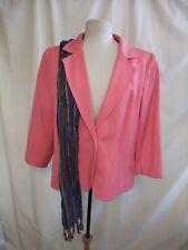 Ladies Jacket WINDSMOOR & scarf, UK 14, EU 42, pink cotton/linen blend 0711