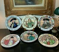 6 Different Royal Doulton The Professionals Dinner Plates England - Excellent