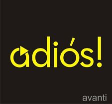 SMART Adios! Hello Car Decal Sticker Brabus Mercedes FourTwo ForFour Roadster