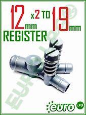 LPG GPL Power Control Valve 12mm x 2 TO 19mm Register Screw Gas Propane mixer