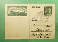 DR WHO 1937 GERMANY NURNBERG SLOGAN CANCEL POSTAL CARD SEMI POST  g21412