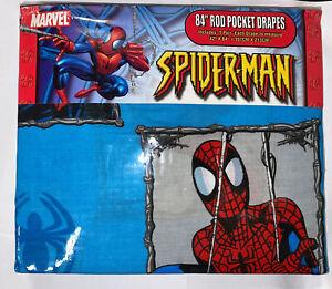 "Brand New Marvel  Spider-Man Panels Drapes Curtains 1 Pair (set of 2), 42"" x 84"""