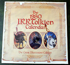 1980 J.R.R. Tolkien Calendar Good Condition - Ballantine Books (C)1979 First Ed.