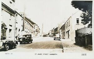 St James Street, Narberth. Vintage Photographic Postcard