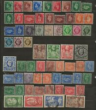 GREAT BRITAIN  COLL. OF USED ED VIII/GVI  BETWEEN SG 457 & SG 512  MAINLY FINE