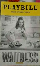 WAITRESS MUSICAL Playbill Broadway Musical Jessie Mueller