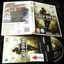 CALL OF DUTY MODERN WARFARE Edicion Reflex Nintendo WII PAL España Completo