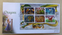 2015 JERSEY DRAGONS  6 STAMP MINI SHEET FDC FIRST DAY COVER