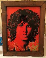 Jim Morrison The Doors Flame Framed Art 1970s Rare Collectible Picture