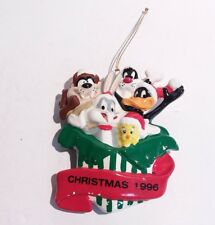 1996 Looney Tunes Annual Ornament Taz Bugs Bunny Daffy Sylvester Tweety Ceramic