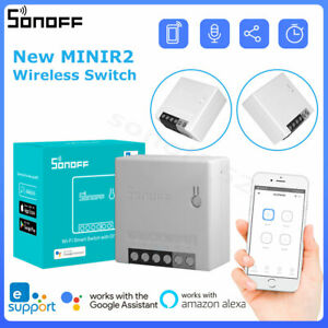 SONOFF MINIR2 Wireless WiFi Smart Switch Two Way Remote Control for Alexa Google
