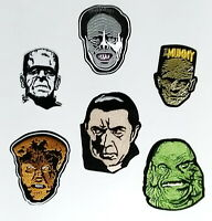 Classic Movie Monster Patch Set of 6-Dracula/Frankenstein/Mummy/Phantom/Creature