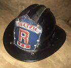 Antique Bullard Fire Helmet with Blue Leather Front Model Hard Boiled
