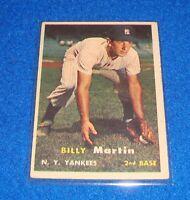 1957 Topps Card # 62 Billy Martin Yankees