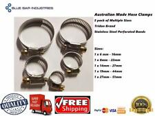 Hose Clamp 5 Pack 6 - 51mm Australian Made Stainless Band Trade Quality