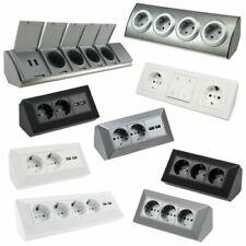Blocco Socket Aufbau-Montage-Steckdose 45° Angolata Distributore Cucina Ufficio