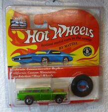 VHTF 25th ANNIVERSARY REDLINES HOT WHEELS CLASSIC NOMAD MET. GREEN in PROTECTOR