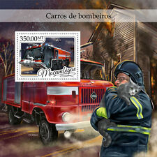 Mozambique 2016 MNH Fire Engines Trucks Ziegler Z8 1v S/S Stamps