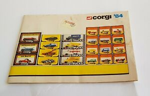 Rare Corgi Toys Catalogue, Dated 1984, - Superb Mint Condition.