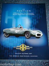 H & H AUCTION CATALOGUE OCTOBER 2007 DUXFORD BMW R50 AJS 16M ASTON MARTIN DB6