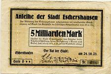 Germany 5 Billions Mark 1923 Eschershausen Nr496