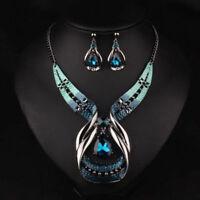 Crystal Choker Fashion Chunky Jewelry Statement Women Chain Pendant Bib Necklace