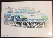 HHC Motorsport Ginetta G55 GT4 Tregurtha & Middleton Word Art ~ A4 Poster