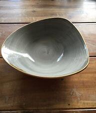 Churchill STONECAST Triangle Bowl Peppercorn Grey Schüssel Porzellan 60 cl grau