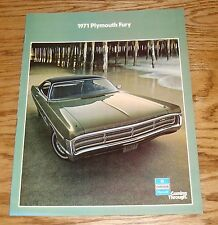 Original 1971 Plymouth Fury Sales Brochure 71 Sport GT III II I Wagon